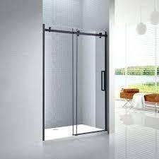 best frameless shower door sliding shower door in black with 8 semi frameless shower door cost