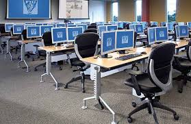 computer tables and tablet stations