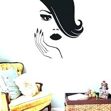 home decor wall decals home decor wall stickers salon wall decal y women wall stickers creative