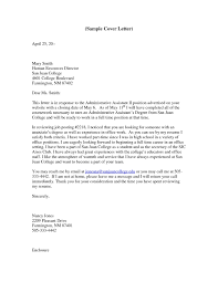 Sample Executive Assistant Resume Cover Letter New Administrative