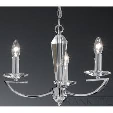 franklite artemis fl2241 3 chrome 3 light chandelier