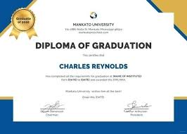 College Diploma Template Certificate Word Deped
