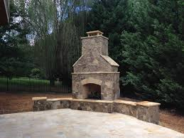 outdoor stone fireplace. Outdoor Living Fireplace Stone