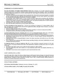 Life Insurance Resume Sample