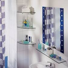 Corner Glass Shelves And Brackets GLASSLINE Corner Shelf Blue Stone Shelves 78