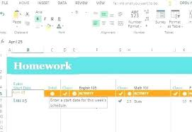 Online Schedule Free Calendar Excel Spreadsheet Easily Customize The Homework Schedule