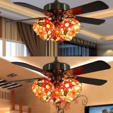 3 heads sunflower ceiling fan with 4