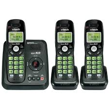 vtech dect 6 0 3 handset cordless phone with answering machine cs6124 31 cordless phones best canada