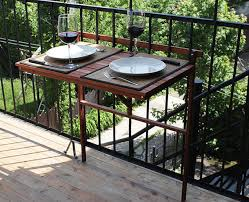 features romantic space saving folding. View In Gallery Foldable Table Attached To Balcony Features Romantic Space Saving Folding