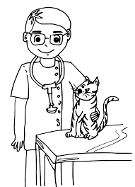 Veterinary Coloring Pages Amazing 8434 With Regard To 4