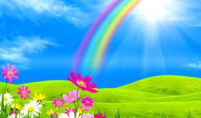 rainbows rainbow pretty rainbows fields nature beautiful hd