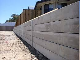 concrete sleepers with galvanised steel h beam post retaining walls