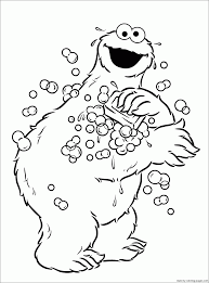 Cookie Monster Coloring Pages Cpaaffiliate Info Free Printable For