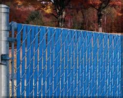 Interesting Chain Link Fence Slats Blue To Design Inspiration