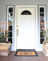painted front door just like playing house