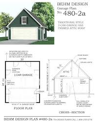 small garage plans free compact 2 car steep roof garage with attic plan x by design