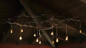 tree branch chandelier country style vintage white crystal