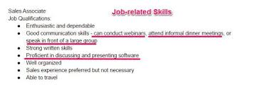 What Skills To Put On Resume