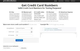 some testing credit card