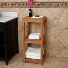 Bathroom Accessories Shelves Three Tier Teak Towel Shelf Bathroom