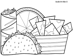Food Coloring pages - Doodle Art Alley