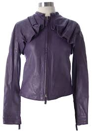 emporio armani emporio armani women s lt eggplant heavy leather jacket k2b07p it 38 1645 new com