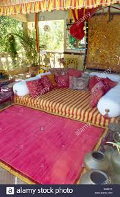 Pink Rugs For Living Room Pink Striped Sofa In Country Living Room With Pink Striped