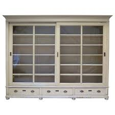 white wooden book cabinet with sliding glass door and storage drawer as well as inch bookcase plus bookshelves with glass doors and lights