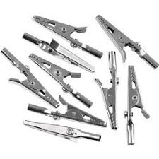 Pack of 20 crocodile clips (5 Amp)
