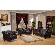 Leather Living Room Sets For Amax Roosevelt 3 Piece Leather Living Room Set Reviews Wayfair
