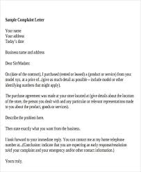 Complaints Letter Format 32 Complaint Letter Formats Doc Pdf Free Premium
