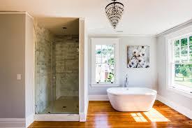wood floor in master bathroom hardwoods design warmth bathroom with regard to radiant bathroom floor heating heated