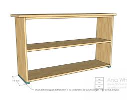 simple bookshelves plan bottom supports