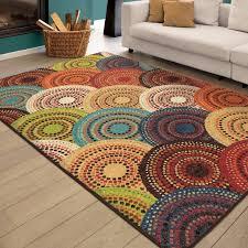 orange and white rug target