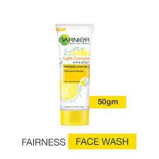 Garnier Skin Naturals Light Fairness Face Wash Pure Lemon Essence 50ml