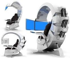 office chair futuristic cool computer chair. A Super Cool Computer Chair. By Tiffany | Builds And Battlestations Pinterest Desks, Desk Setup Man Caves Office Chair Futuristic