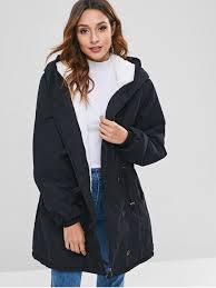 unique faux fur lined winter parka coat black 2xl