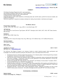 dot net resume sample