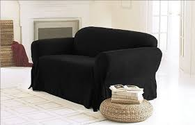black couch slipcovers. Wonderful Black Chezmoi Collection Soft Micro Suede Solid Black Couchsofa Cover Slipcover  W Elastic Band Under Seat Cushion And Couch Slipcovers M