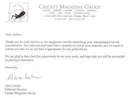 ollie s treasure rejection letter cricket john rea hedrick ollie s treasure rejection letter