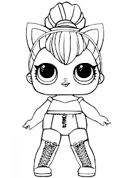 Kids N Funcom Coloring Page Lol Surprise Dolls Kitty Queen