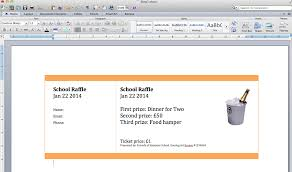 create numbered raffle tickets in word for mac 2011 step 2 create a page of tickets