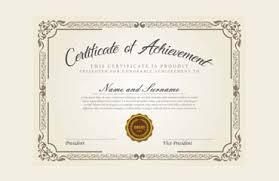Certificate Of Achievement Sample Wording Content