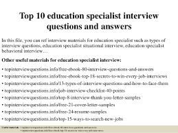 Sample Interview Score Sheet Amazing Top 48 Education Specialist Interview Questions And Answers