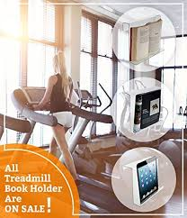 Treadmill Magazine Holder Source One LLC Standard Treadmill Book Holder Reading Rack TBHS 40