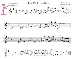 alto sax pink panther sheet music pink panther theme song sheet music easy cakepins com piano sheet