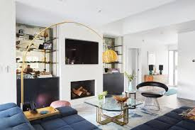 wall mounted televisions like this one in a los angeles home featured in house calls can be a major acoustical headache in homes