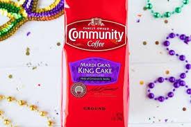⠀ 👑 king cake crème: Festive Mardi Gras Coffees Mardi Gras Coffee