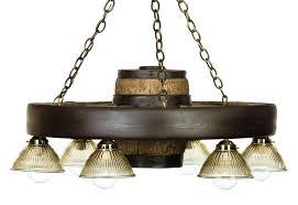 30 downlight verde wagon wheel chandelier