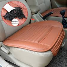 universal seat pad pu leather bamboo charcoal car cushions car seat covers for auto car chairs